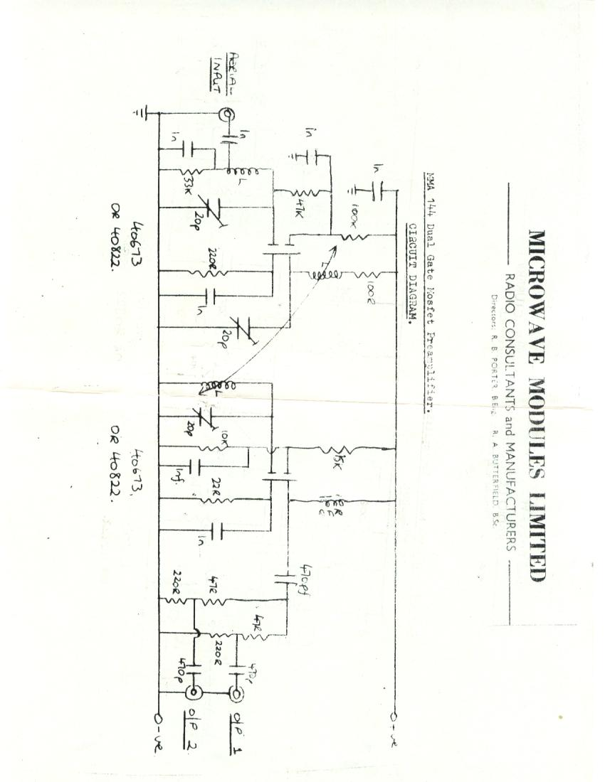 Index Of Manuals Microwave Modules Mma144